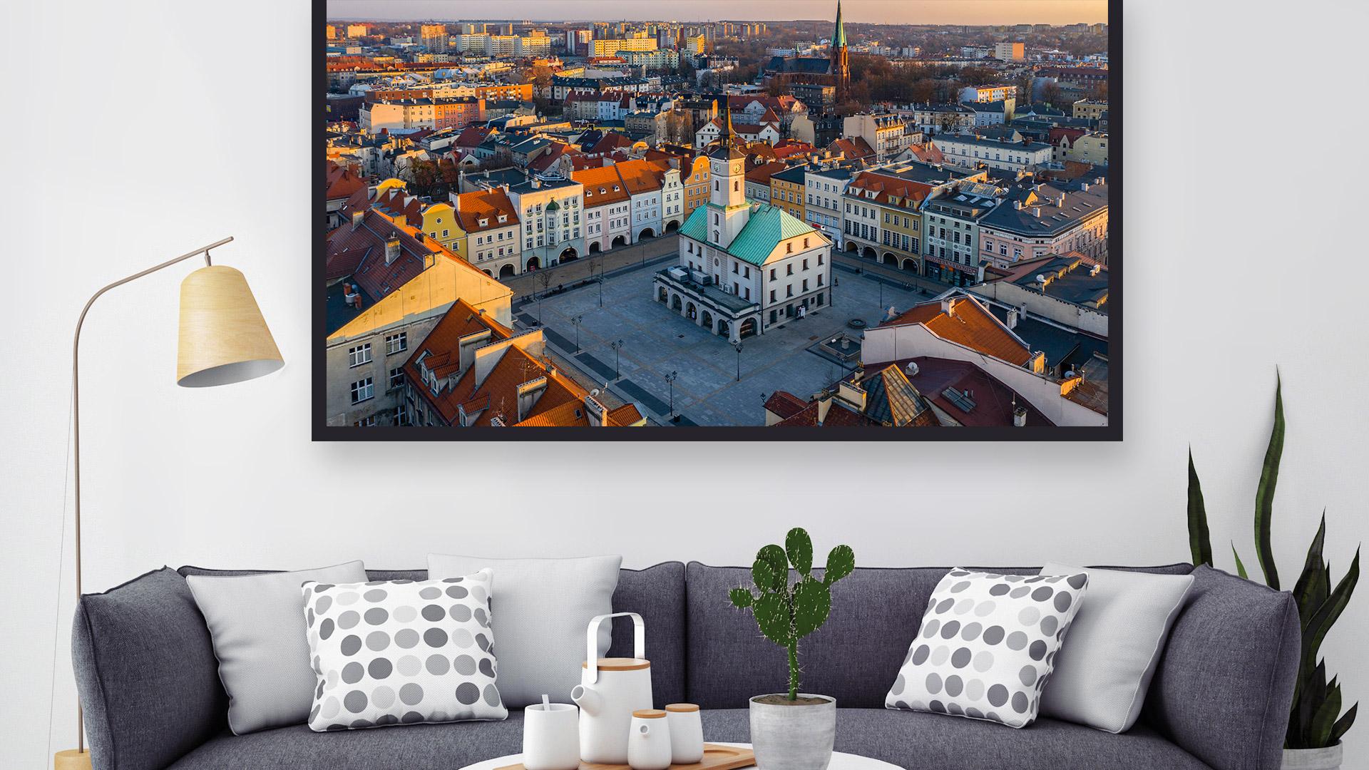 Gliwicki Rynek i panorama starego miasta